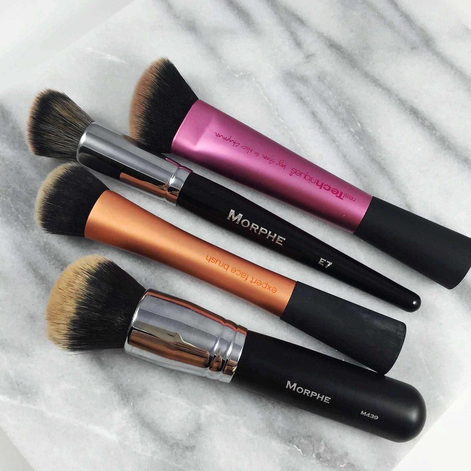 Makeup Brushes Morphe M 439 • Real Techniques Face Brush