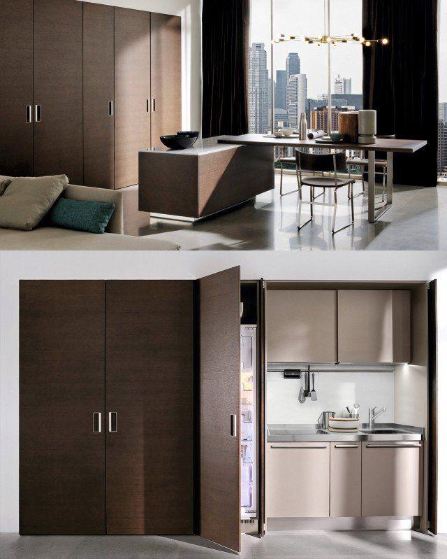 La cucina nell'armadio: mobili compatti e salvaspazio ...