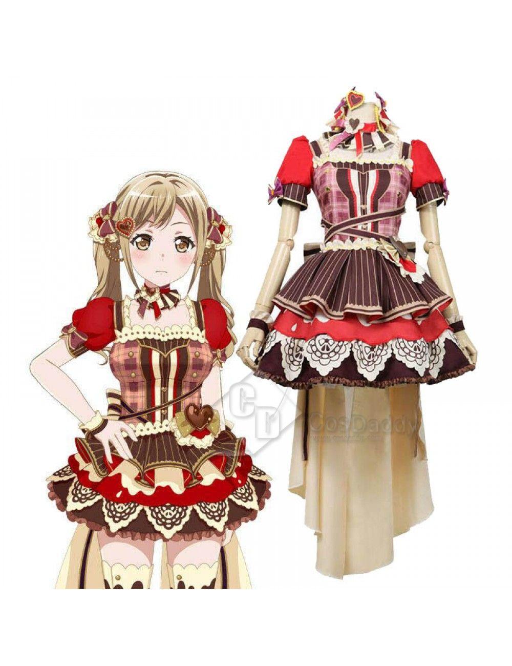 Bangdream Dustabata Happy Valentine Ichigaya Arisa Cosplay Costume Cosplay Outfits Cosplay Costumes Anime Outfits