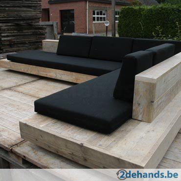 Luxe Steigerhouten Loungeset.Design Loungeset Lounge Bank Lounge Meubel In Accoya Hout Kan