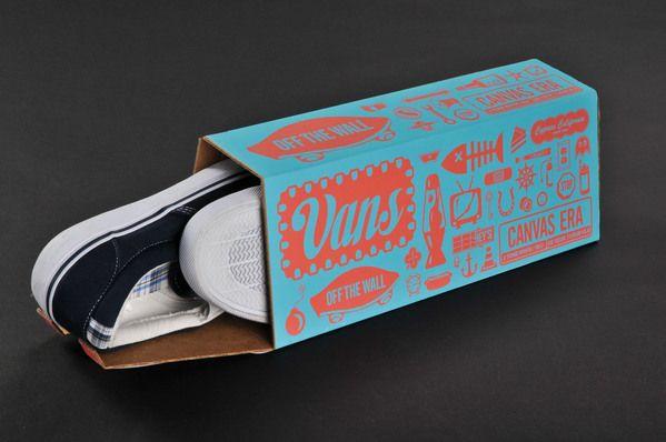 Vans Shoebox Packaging by Nate Eul, via Behance