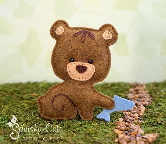 Bear Sewing Pattern PDF - Felt Baby Bear Ornament - Woodland Mobile ...