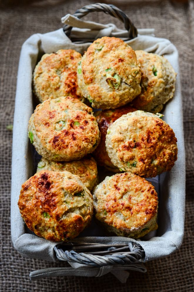 Cheddar and spring onion scones
