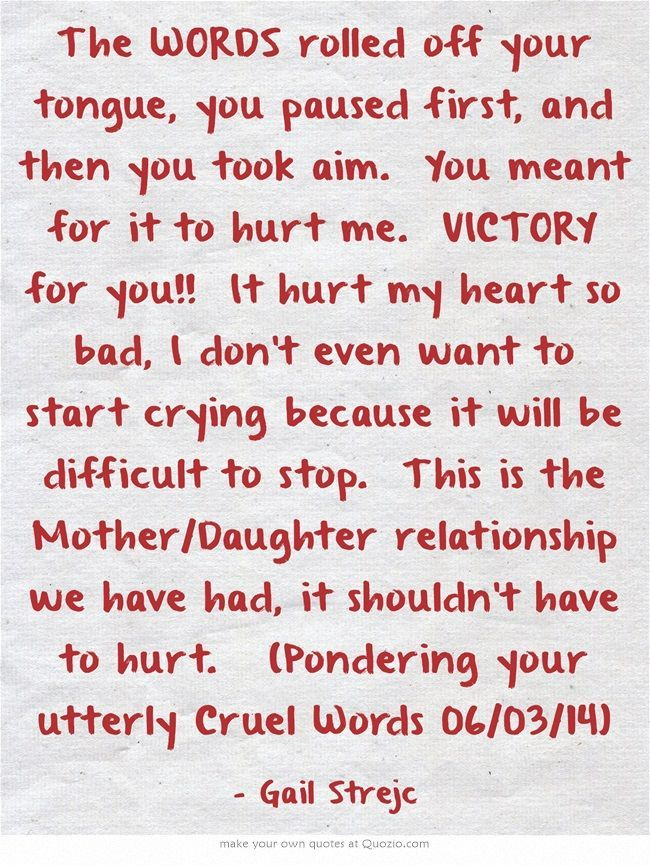poem about mothers and daughters relationship