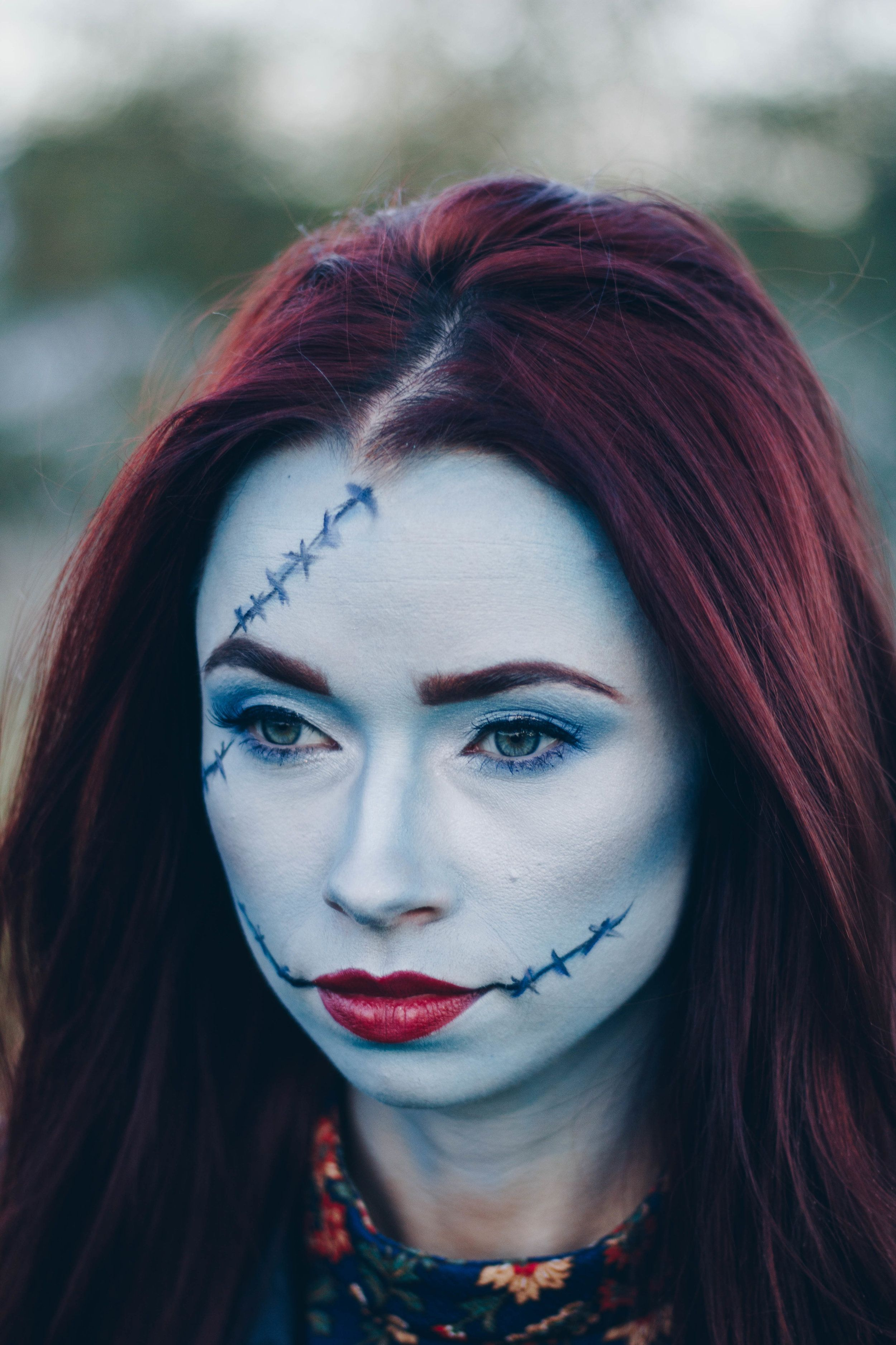 Nightmare Before Christmas Sally Makeup - Christmas Cards