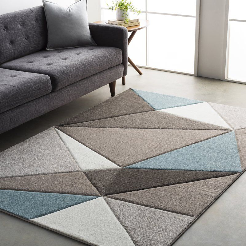 Cheeseman Geometric Gray Blue Brown Area Rug With Images Area