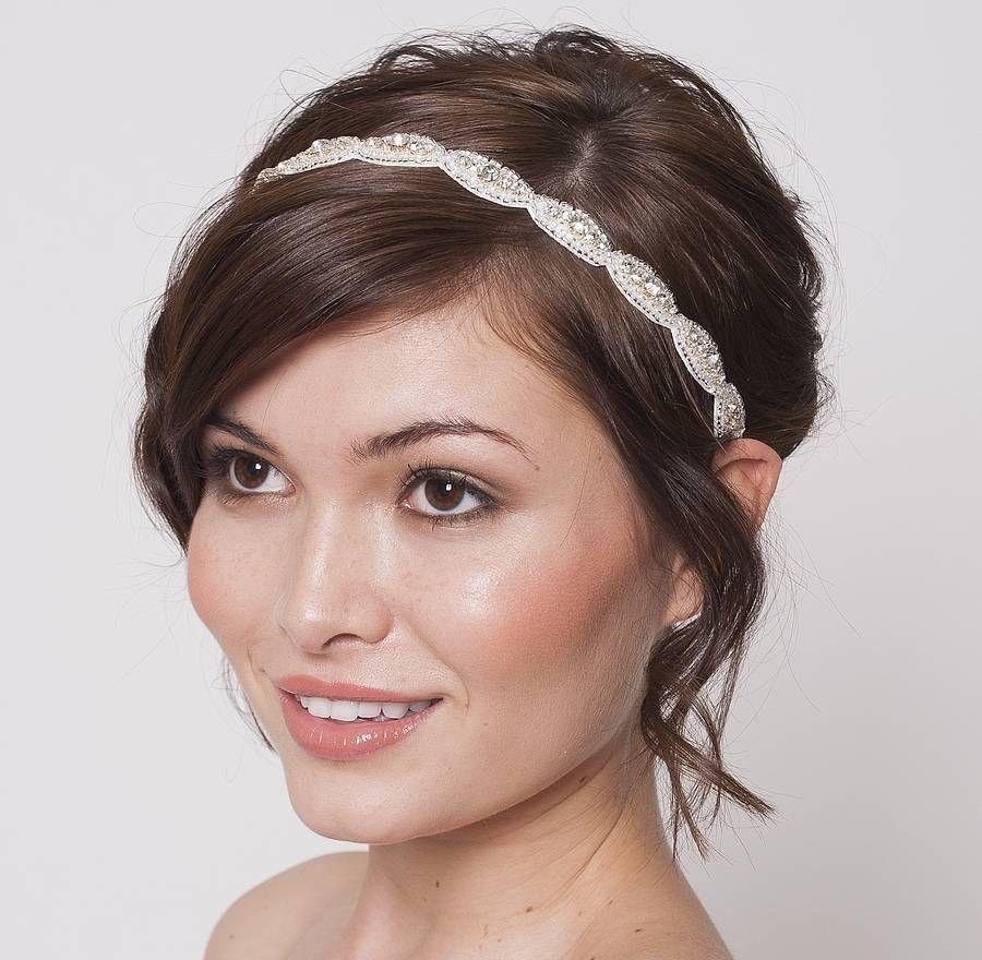 Hair accessories headbands uk - Victoria I Bridal Headband