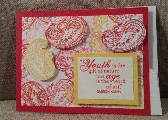 Artsy Birthday Card My Design Paper Pigment Creations My