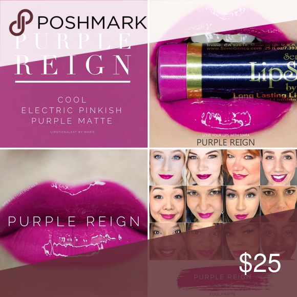 Lipsense Purple Reign Long lasting lip color that last up to 18 hours! You have to try it! SeneGence Product Makeup Lipstick