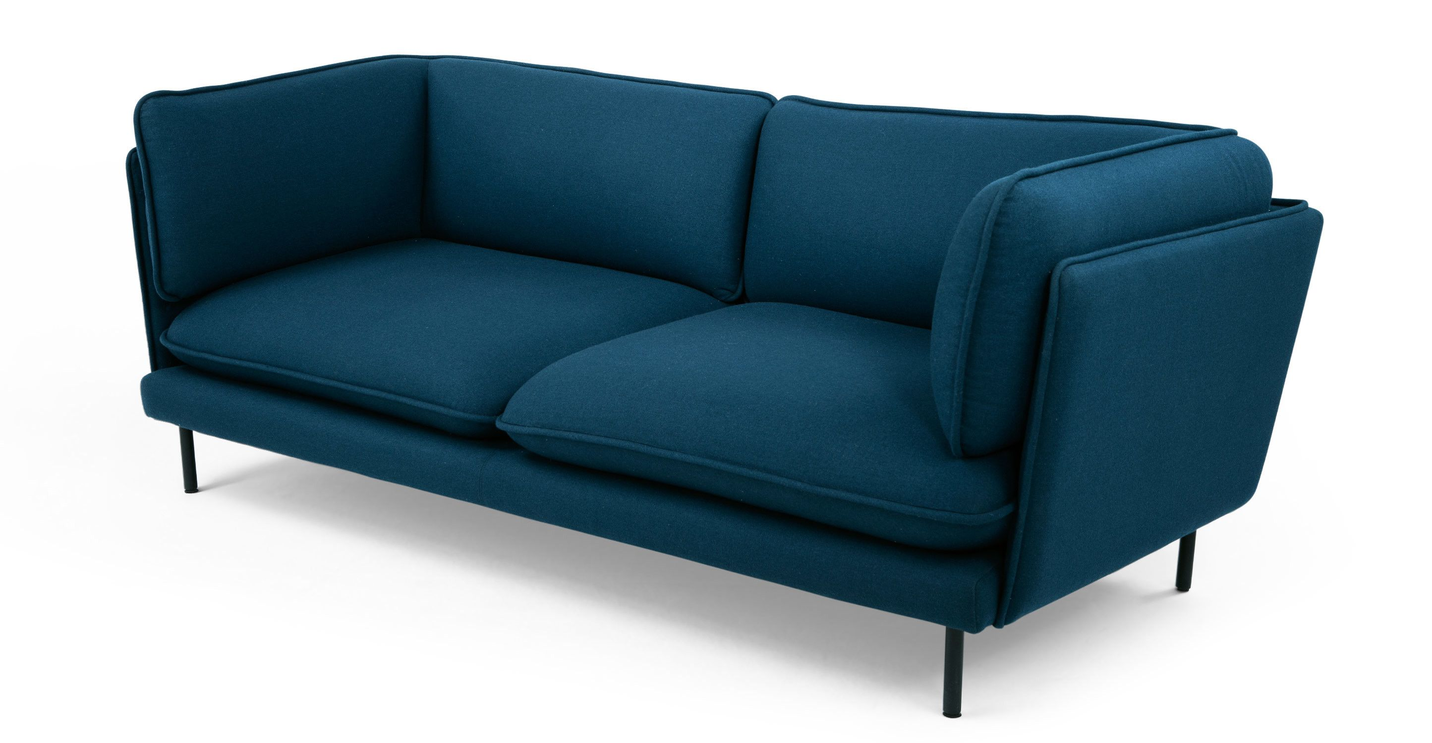 Wes 3 Seater Sofa Petrol Teal from Made Green Blue Express