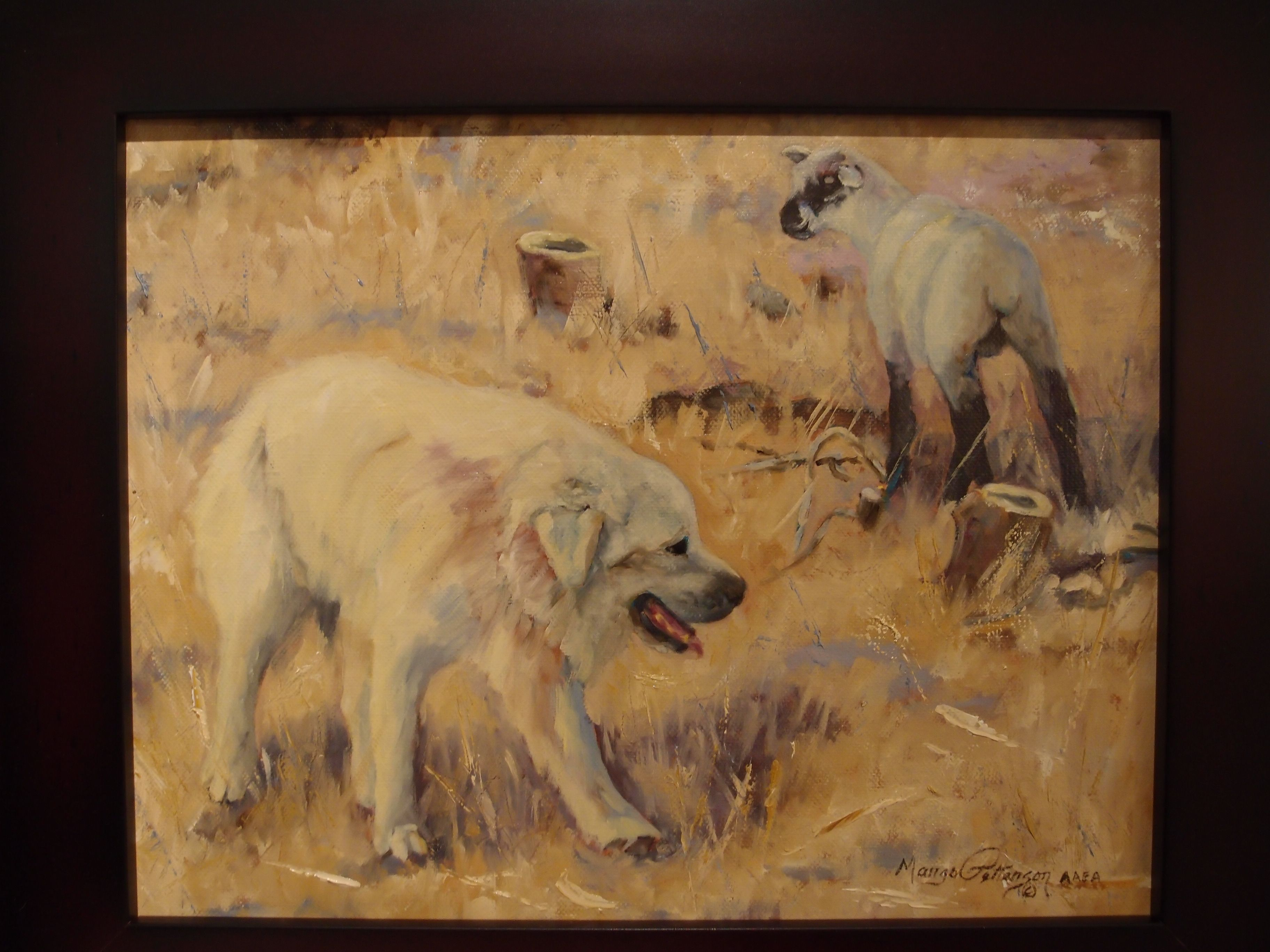 Almost Got Away Oil Painting By Margo Petterson Featured At Spirits In The Wind Gallery