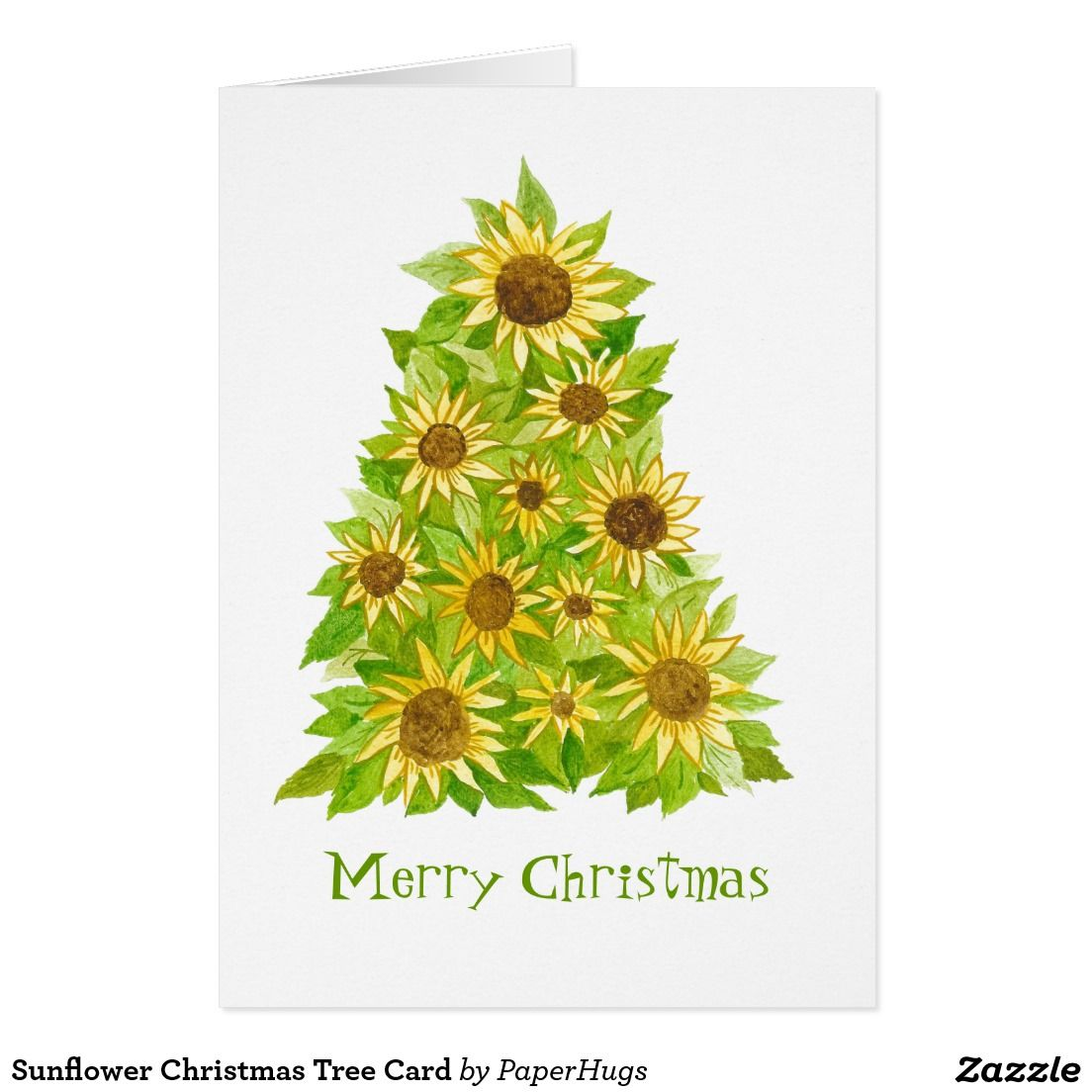 Create your own Card | Zazzle.com #sunflowerchristmastree