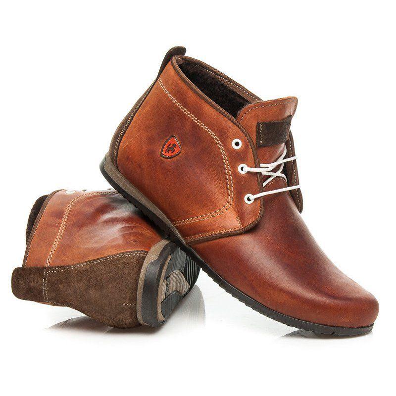 Trekkingowe Meskie Lucca Lucca Brazowe Eleganckie Obuwie Meskie Boots Ankle Boot Shoes