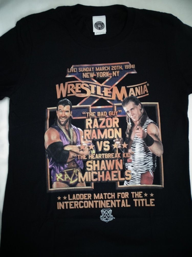 5add20eb4 Shawn Michaels VS Razor Ramon Ladder Match Wrestlemania X 10 WWE Wrestling  Shirt…