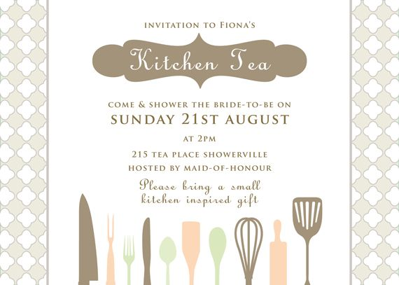 HighTea #AfternoonTea or a #KitchenTea - lovely invitation by ...