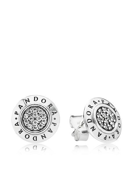 781d629ea Pandora Stud Earrings - Sterling Silver & Cubic Zirconia Pandora Signature
