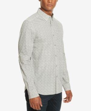 Kenneth Cole New York Men's Tri-Print Shirt  - Black XXL
