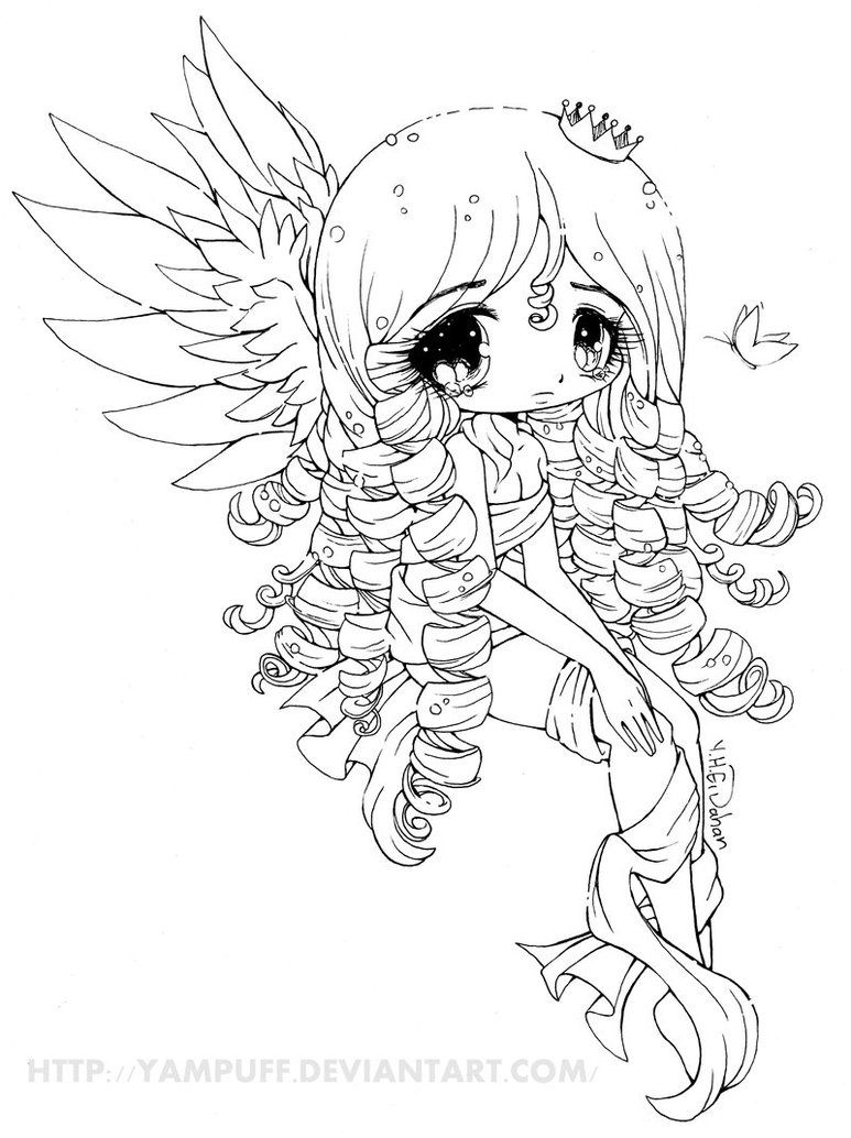 - Elyssa Lineart By YamPuff On DeviantART Cat Coloring Page, Cool