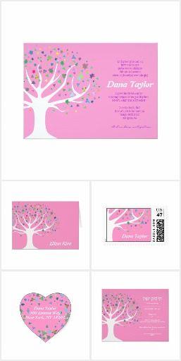 tree of life jewish baby naming invitation set jewish baby naming