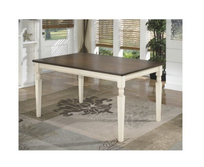 Farmhouse Dining Table Home Kitchen Solid Wood Cottage Dining Room Tables 2 Tone