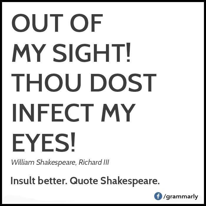 Shakespeare Insults Funny Shakespeare Quotes Shakespeare Insults Shakespeare Funny