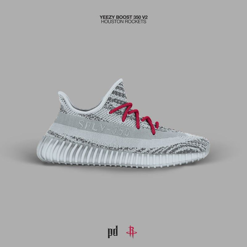 3a98714475d Original Adidas Yeezy Boost 350 V2 NBA Concept Houston Rockets 2018 Online
