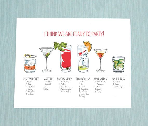 Birthday Card Humorous Card Cocktail Card I by MichelleBaronStudio