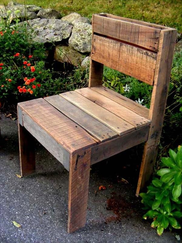 DIY Pallet Outdoor Armless Chair Pallet Furniture DIY Pinteres