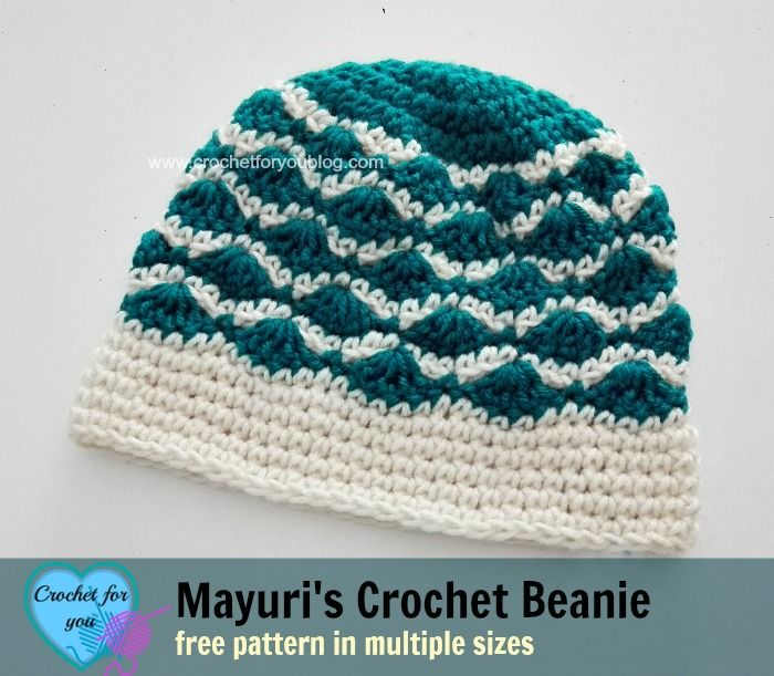 Mayuri\'s Crochet Beanie - free pattern. | Gorros, Gorros para dama y ...