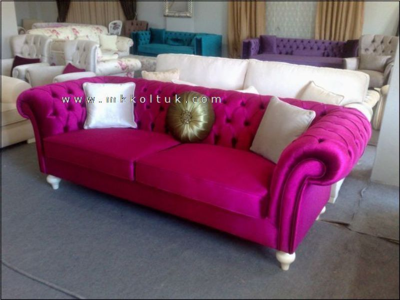 velvet chesterfield sofa prices small double futon bed pink on sale couch in 2019 purple