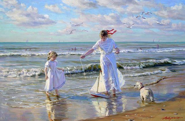 : I dipinti realistici stile impressionista di Alexander Averin (Russia)
