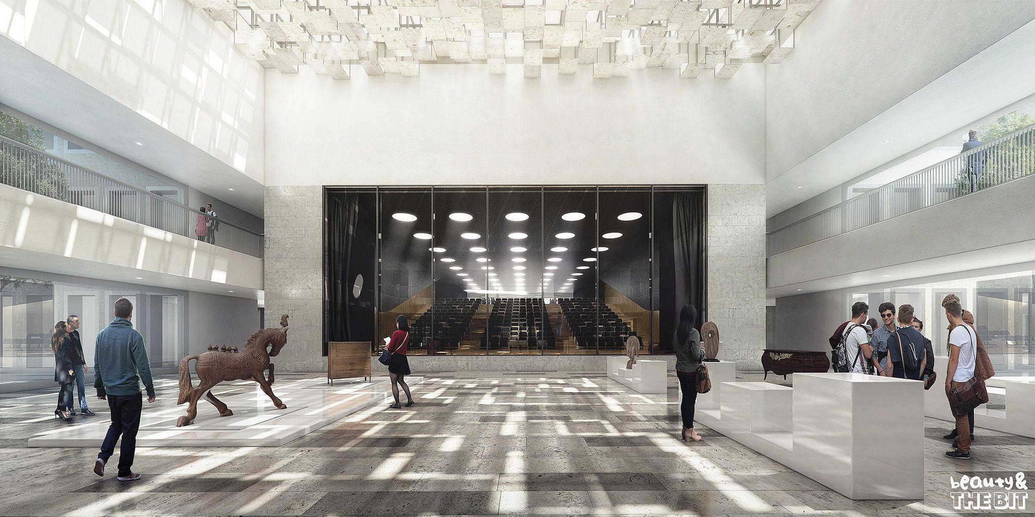 Chambre De Metiers Et De L Artisanat Cma France Kaan Architecten 2015 Interior Rendering Office Space Design Visualisation