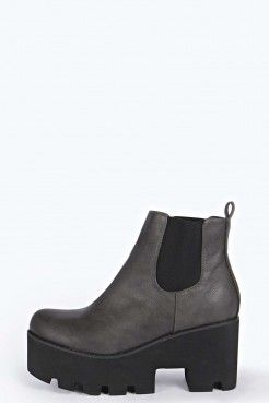 Kayley Pull On Heavy Cleated Ankle Boot - Witchery - Collections