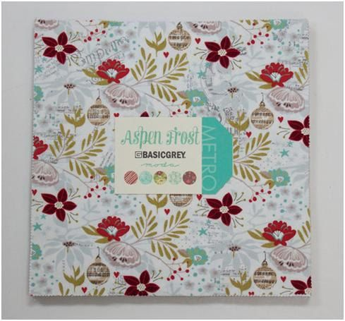 Aspen Frost by Basicgrey 42  10 squares of assorted by OlieandEvie, $39.00