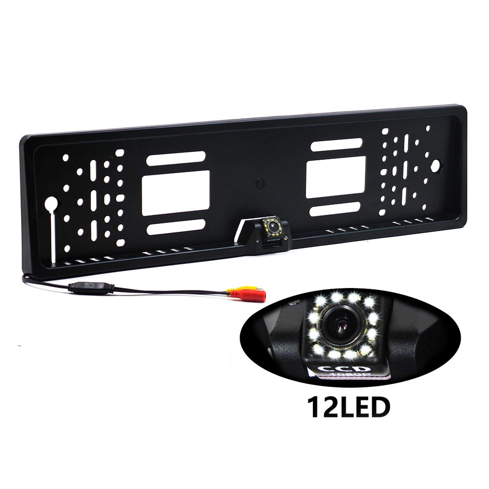 License Plate Frame CCD Camera Car Rear View Backup Camera 170° Night Vision Car Video
