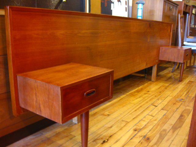 GUFF: Used Vintage Mid Century Furniture: Vintage Teak Headboard!   SOLD!