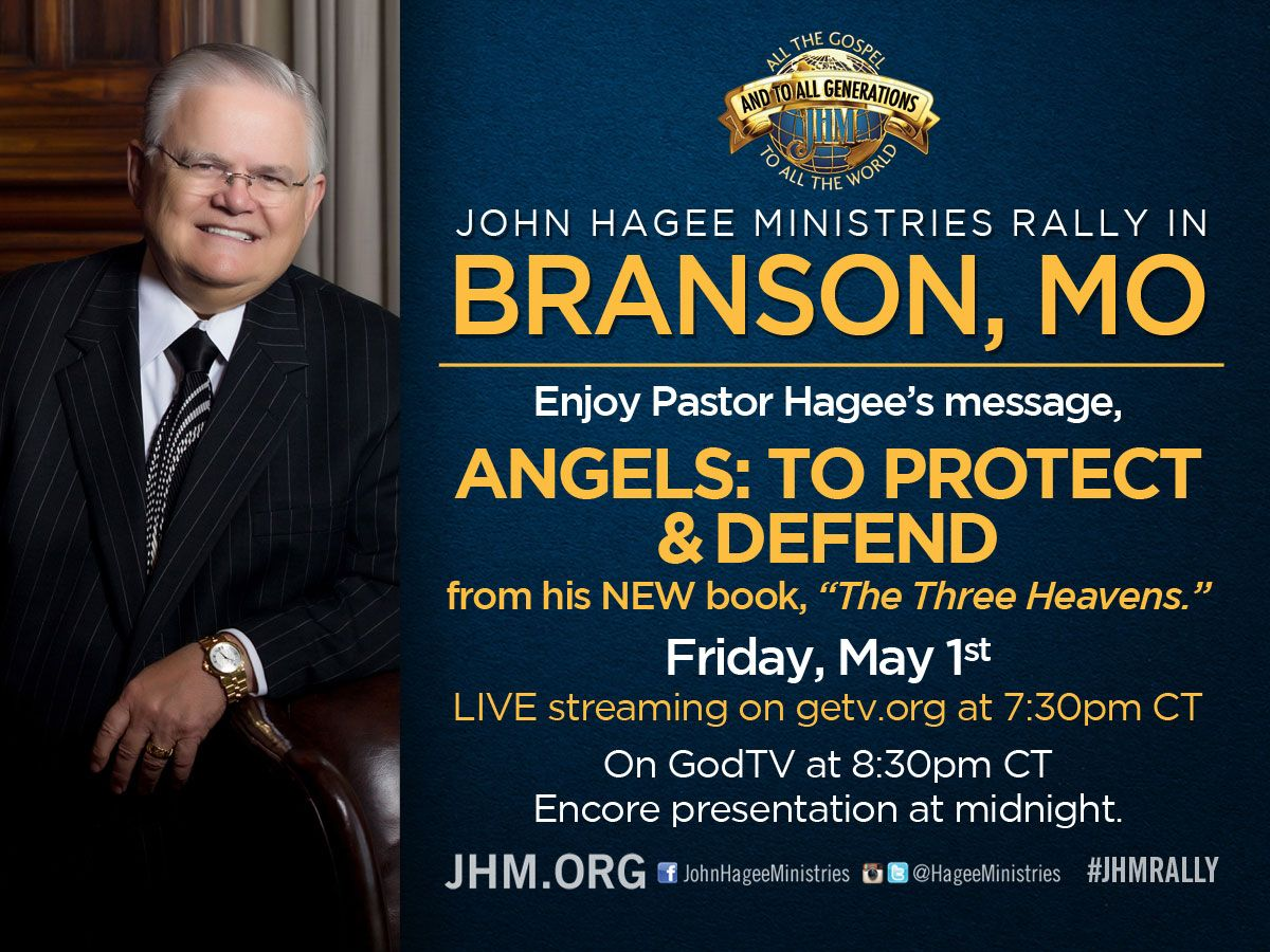 WATCH John Hagee LIVE online at www getv org TONIGHT 7:30PM