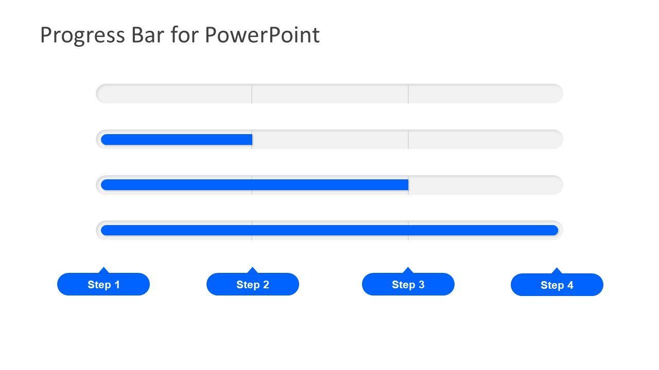 Progress Bar Design Powerpoint Diagram Slidemodel Progress Bar Bar Design Powerpoint Slide Designs