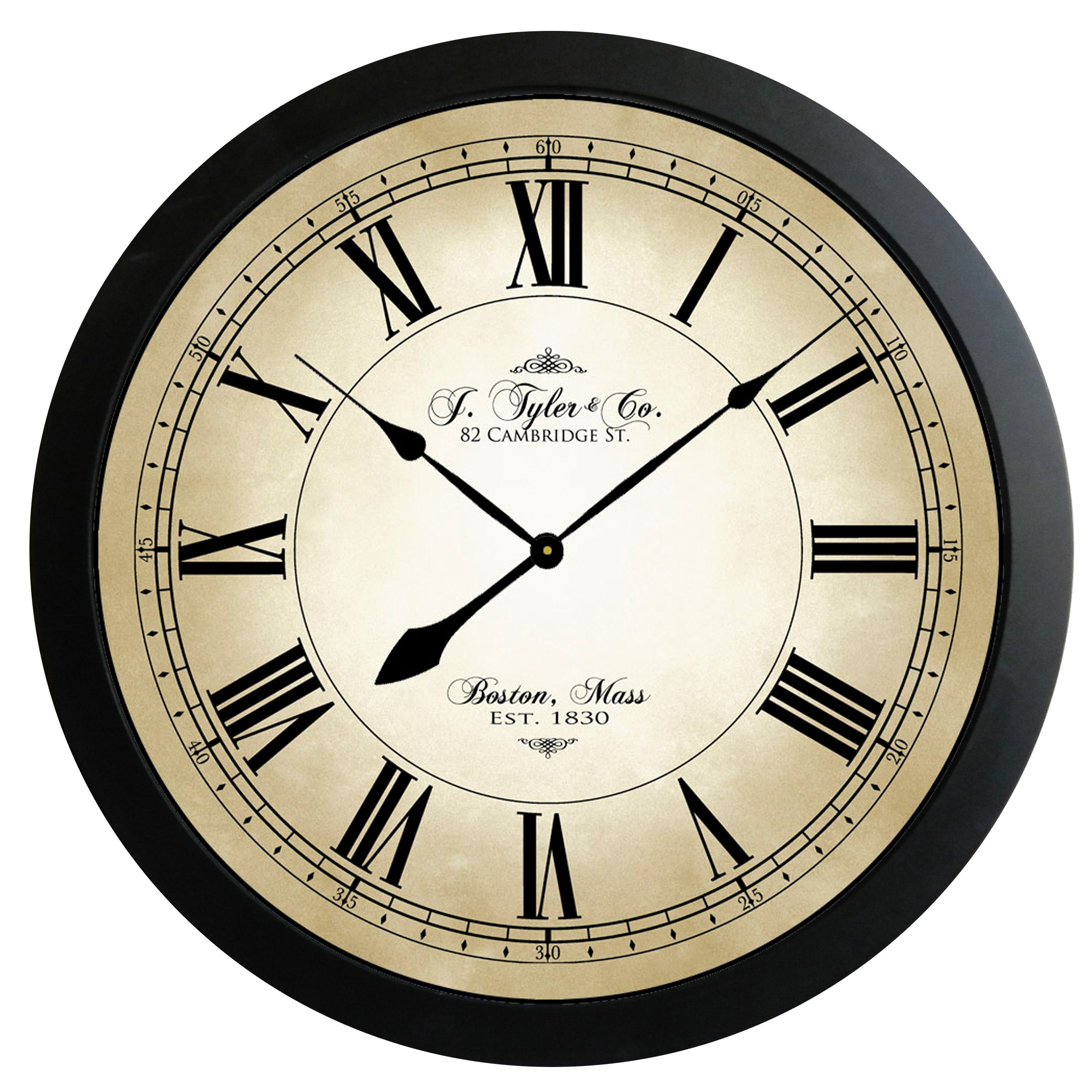 Fairwind clock 12 18 24 30 36 48 60 the big clock large wall clock fairwind clock whisper quiet non ticking amipublicfo Image collections