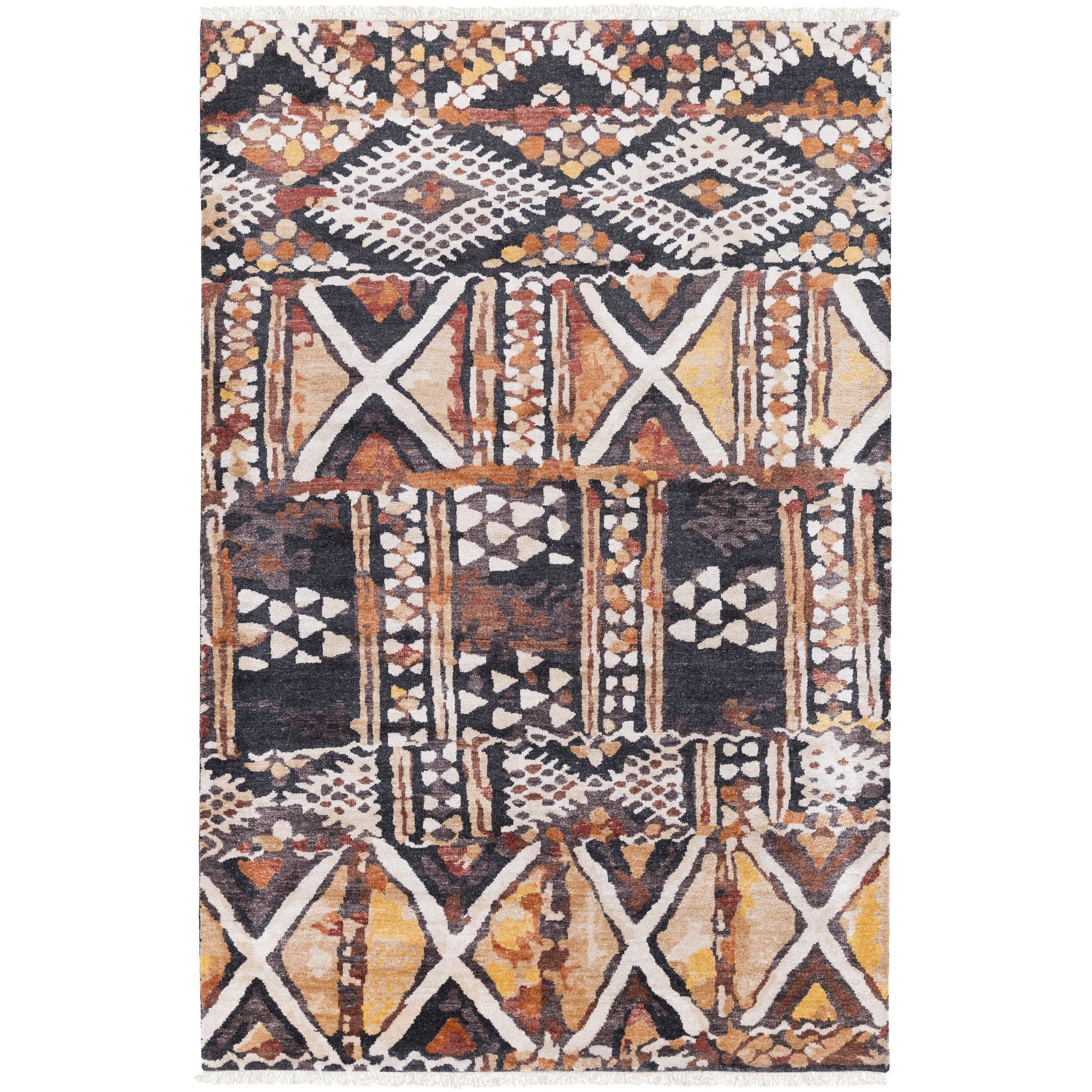 Zambia Hand-Knotted Neutral/Brown Area Rug