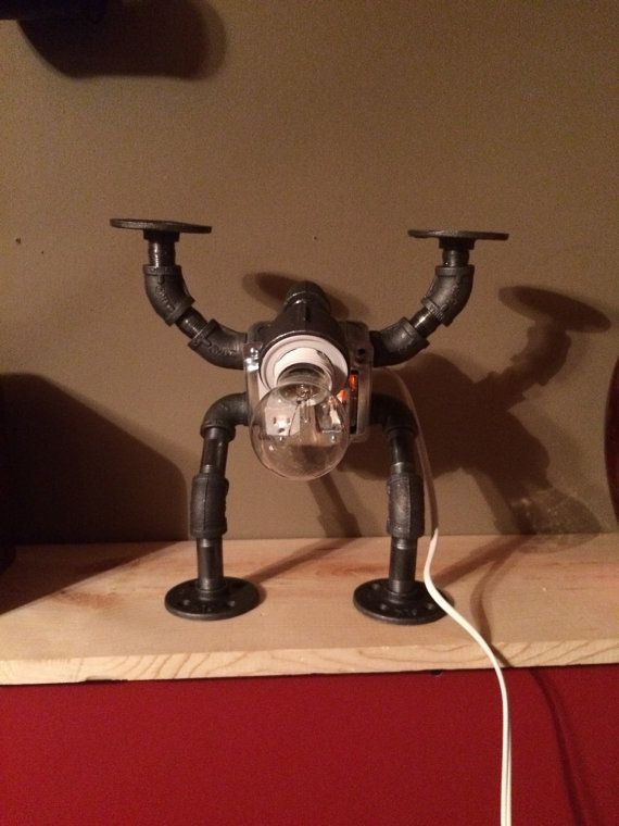 Pipe Robot Lamp DIY Industrial Steampunk By CustomsRestorations