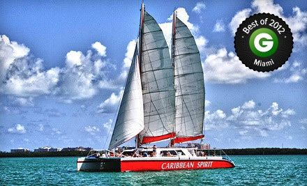 Groupon - $ 25 for a Two-Hour Cast Away the Day Champagne Sunset Cruise for One from Tropical Sailing ($ 50 Value). Groupon deal price: $25.00