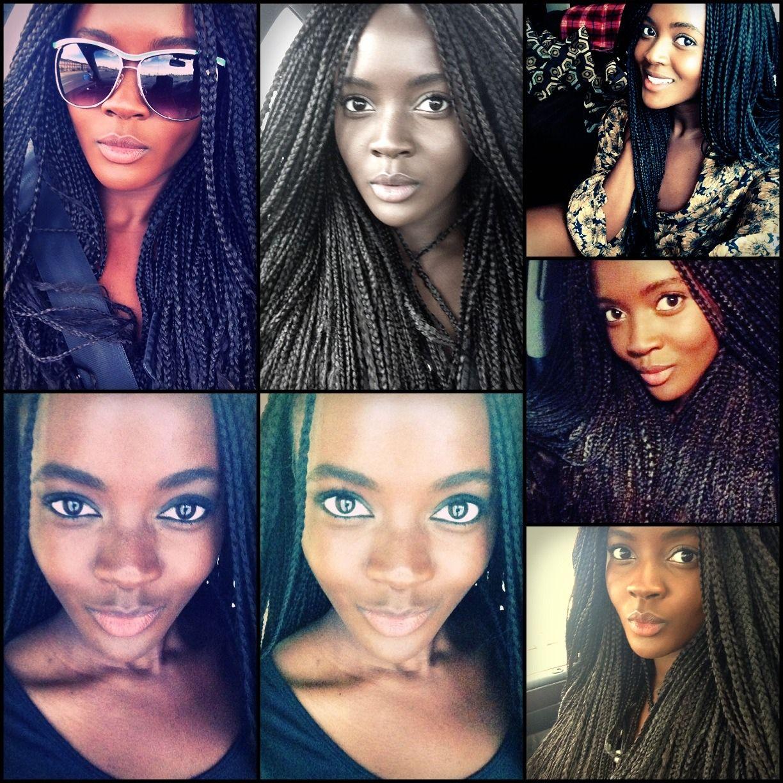 Model philomena kwao stay braided up with my braid wig