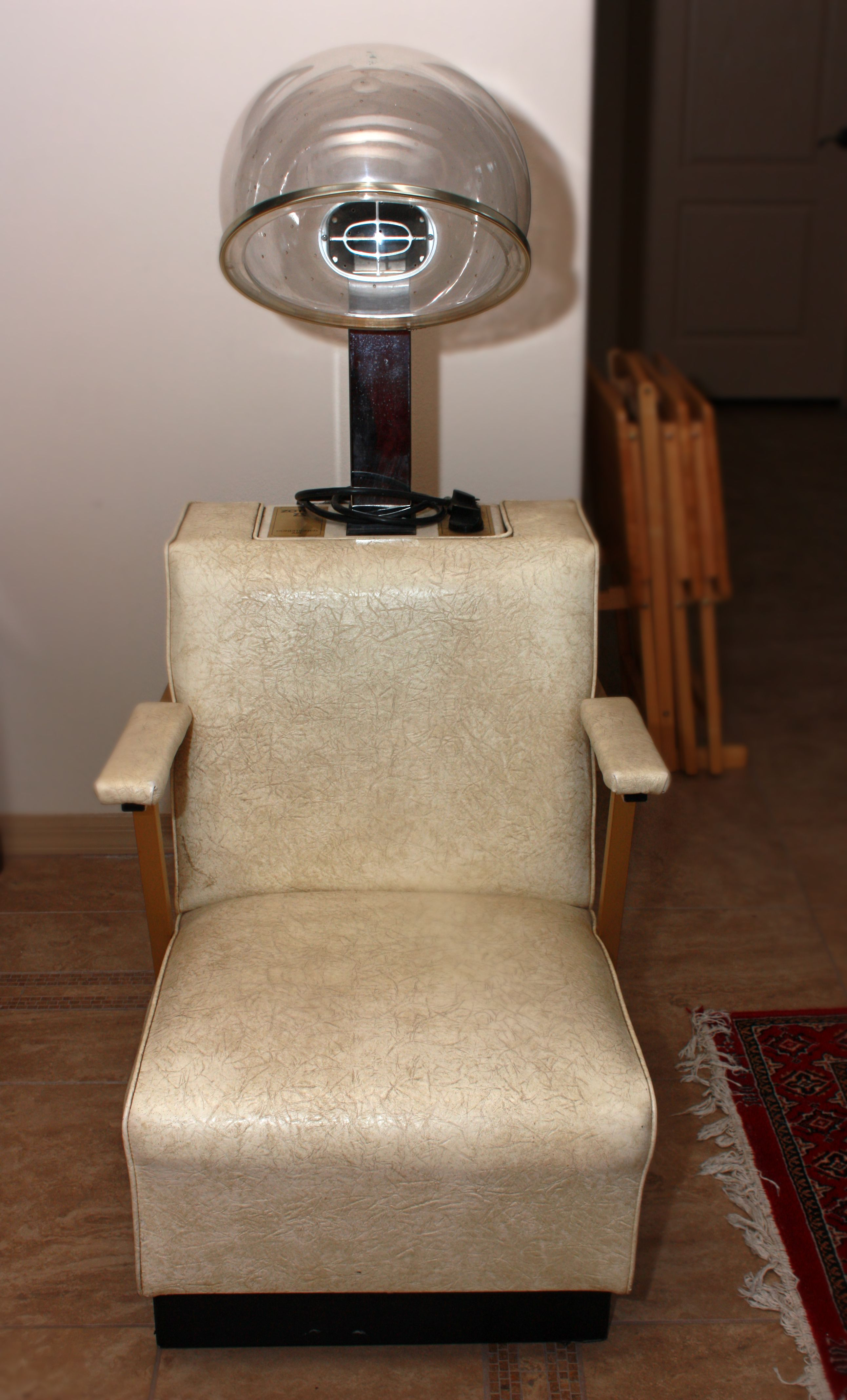 Retro Salon Chair- given to me by a friend.