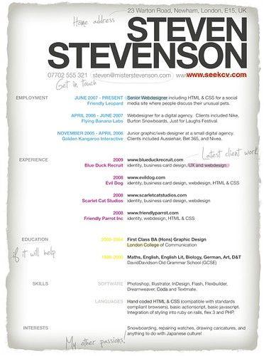 Interesting Resume - Google Search | Resume | Pinterest | Resume