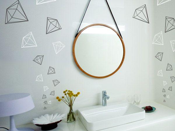 Badezimmer Wandtattoo ~ Best spiegel wandtattoos um den spiegel anbringen images on