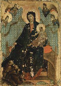 с.1280.Duccio,Madonna of the Franciscans.Pinacoteca Nazionale, Siena.