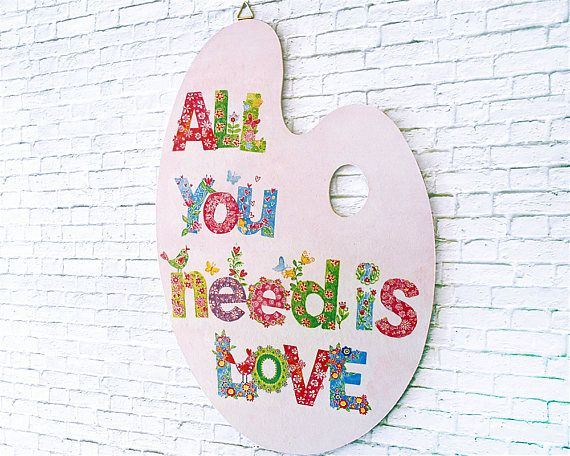 All you need is Love - Hippie Decor - Mother\'s Day Gift - All you ...