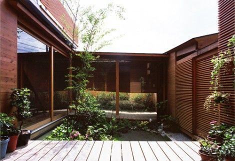 Architectural Japanese House Geniohouse Com Home Garden Design House Design Courtyard House