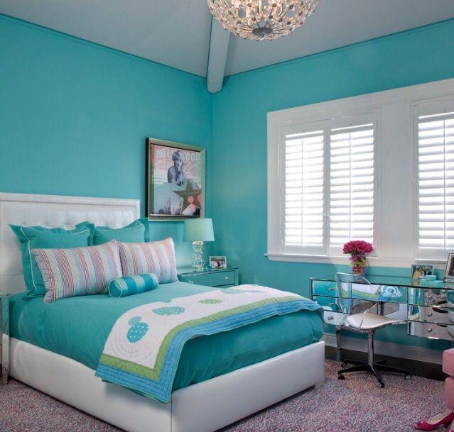 Deco Aquamarine Turquoise Room Bedroom Turquoise Bedroom Colors